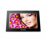 "ViewSonic VFA770W-50E 7"" DPF, black plastic frame, 480 x 234, contrast ratio 250:1, 150 nits, 16:9, JPEG & BMP photo format, USB host, card reader"