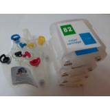 Система за непрекъснато подаване на мастило (СНПМ) CISS за HP с номер на касети - 82,Bk,C,M,Y