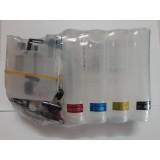 Система за непрекъснато подаване на мастило (СНПМ) CISS за Brother с номер на касети LC529 и  LC525