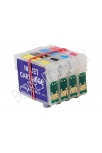 Зареждаеми или още презареждащи се мастилени касети за принтери Epson с номер на касети - Т1281, Т1282, Т1283, Т1284