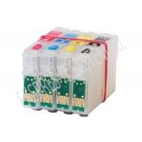 Зареждаеми или още презареждащи се мастилени касети за принтери Epson с номер на касети - T1301, T1302, T1303, T1304