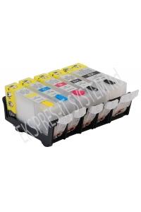 Зареждаеми или още презареждащи се мастилени касети за принтери Canon с номер на касети -  PGI-525BK / CLI-526BK/C/M/Y