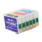 Зареждаеми или още презареждащи се мастилени касети за принтер Epson с номер на касети - T0791, T0792, T0793, T0794, T0795, T0796
