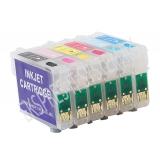Зареждаеми или още презареждащи се мастилени касети за принтери Epson с номер на касети - Т0801, Т0802, Т0803, Т0804, Т0805, Т0806