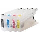 Зареждаеми или още презареждащи се мастилени касети за принтери Brother с номер на касети  LC1220 / LC1240