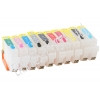 Зареждаеми или още презареждащи се мастилени касети за принтер Canon с номер на касети - PGI-9PBK, MBK, GY, C, M, Y, PC, M, R, G