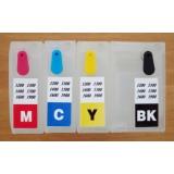 Зареждаеми или още презареждащи се мастилени касети за принтери Canon с номер на касети - PGI-1500XL BK/C/M/Y