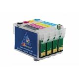 Зареждаеми или още презареждащи се мастилени касети за принтери Epson с номер на касети  T0711-T0714